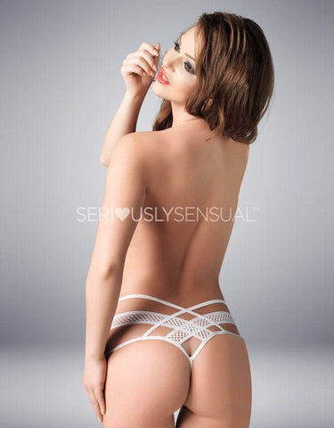 Me Seduce Amber White Thong