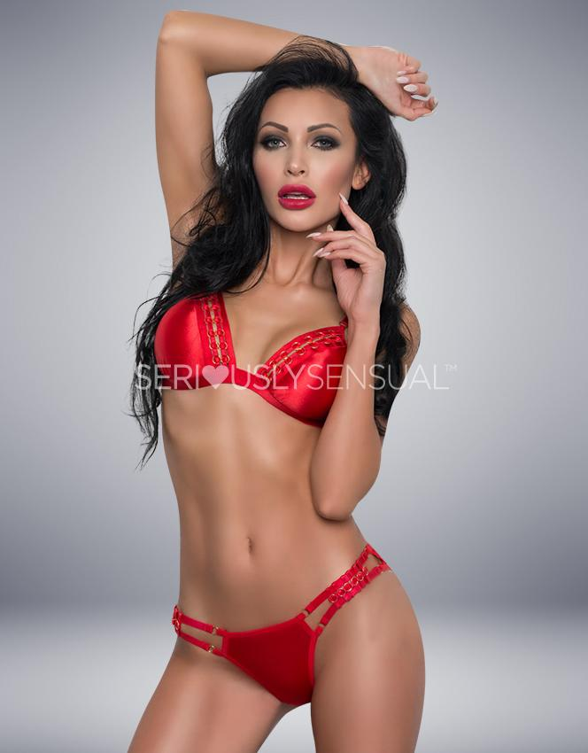 Me Seduce Isabella Set - Red - SeriouslySensual
