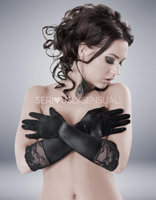 Nora Gloves - Black - SeriouslySensual