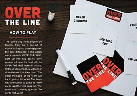 Over The Line Party Game - Charades & Pictionary but with naughty words