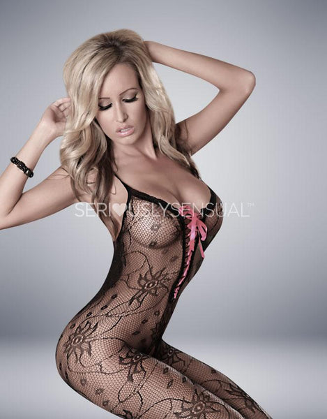 Provocative Bodystocking in Black - PR4122 - SeriouslySensual