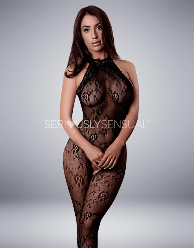 Provocative Bodystocking in Black - PR4174 - SeriouslySensual