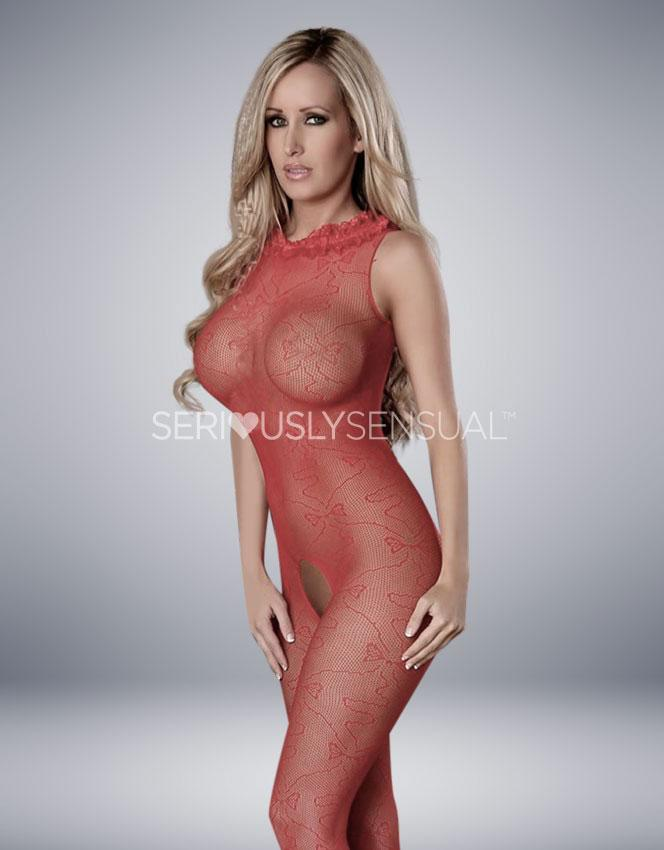 Provocative Bodystocking Red - PR4428 - SeriouslySensual
