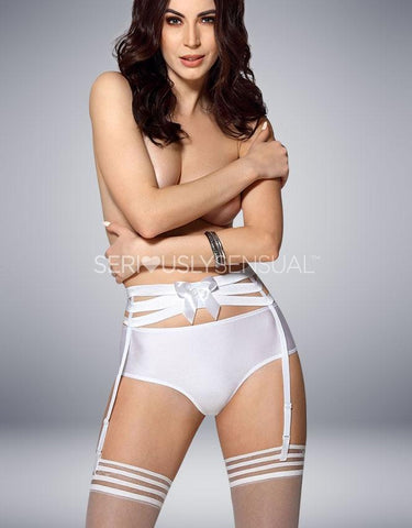 ROZA AMORRE SUSPENDER BELT WHITE