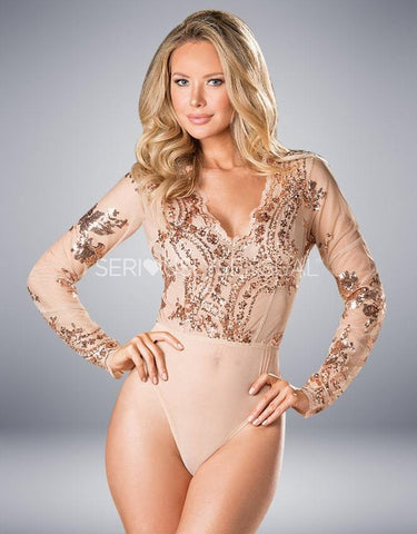 Shirley of Hollywood 31389 Sequined Bodysuit - SeriouslySensual