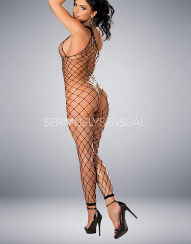 Shirley of Hollywood 90449 Black Bodystocking