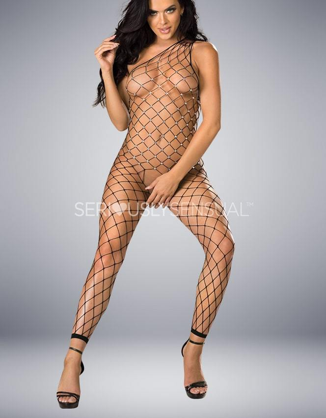 Shirley of Hollywood 90449 Black Bodystocking - SeriouslySensual