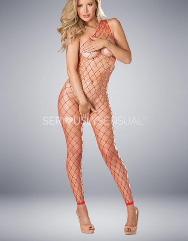 Shirley of Hollywood 90449 Red Bodystocking - SeriouslySensual