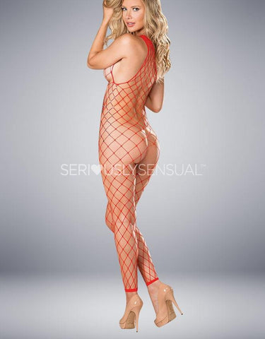 Shirley of Hollywood 90449 Red Bodystocking
