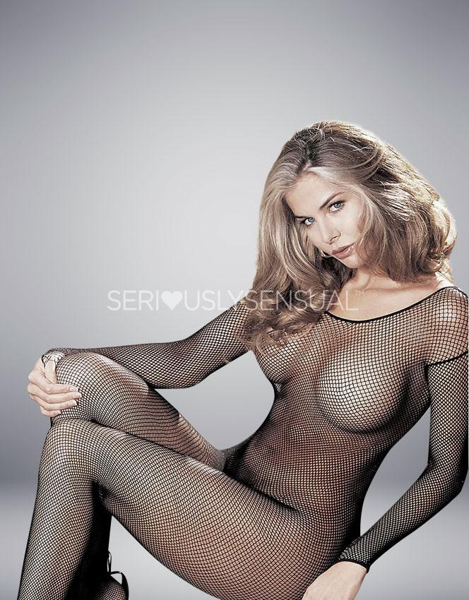 Shirley of Hollywood Black Bodystocking - 90005 - SeriouslySensual