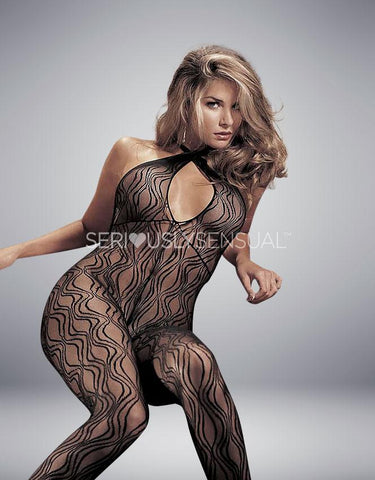 Shirley of Hollywood Black Bodystocking - 90010 - SeriouslySensual