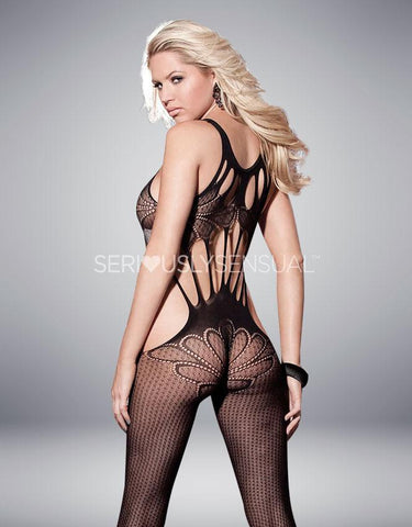 Shirley of Hollywood Black Bodystocking - 90275