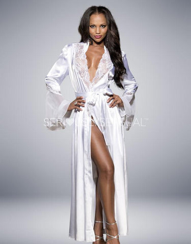 Shirley of Hollywood - Long Robe White 20559 - SeriouslySensual