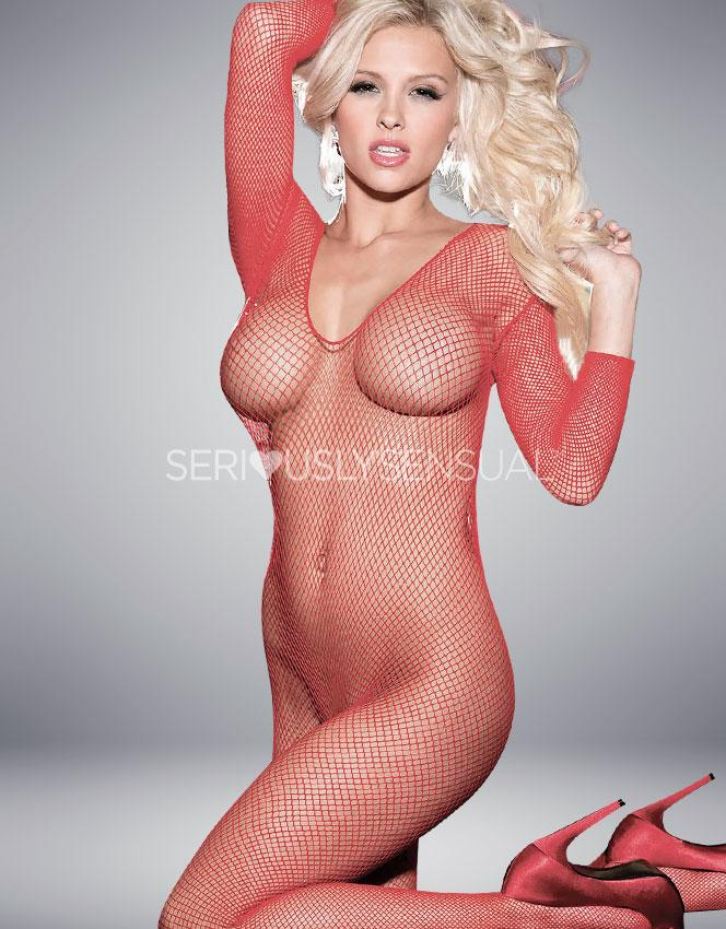 Shirley of Hollywood Red Bodystocking - 90005 - SeriouslySensual