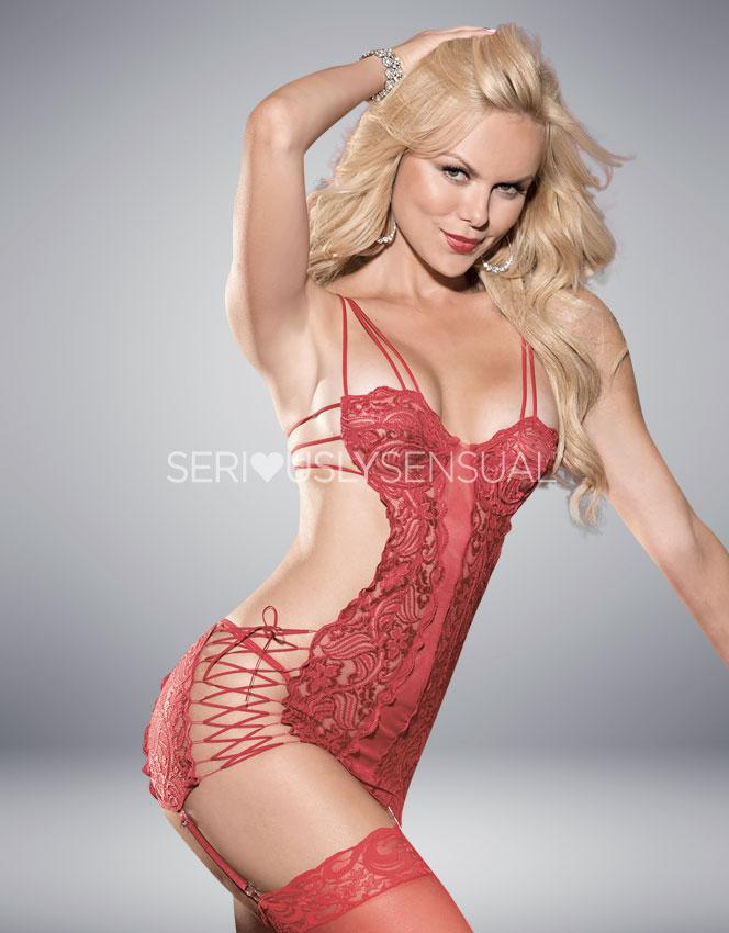Shirley of Hollywood Red Lace Chemise - 25246 - SeriouslySensual