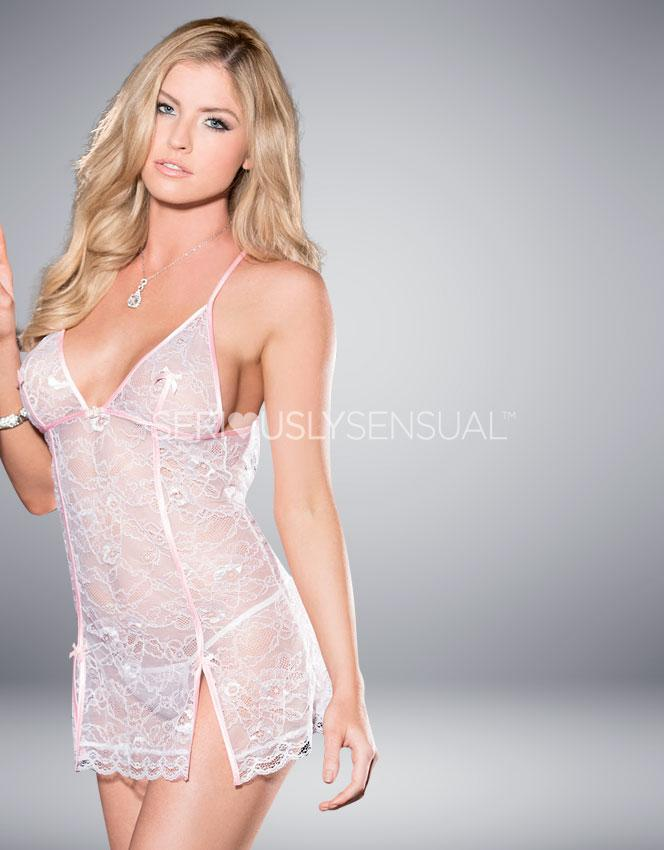Shirley of Hollywood White Chemise - 31039 - SeriouslySensual