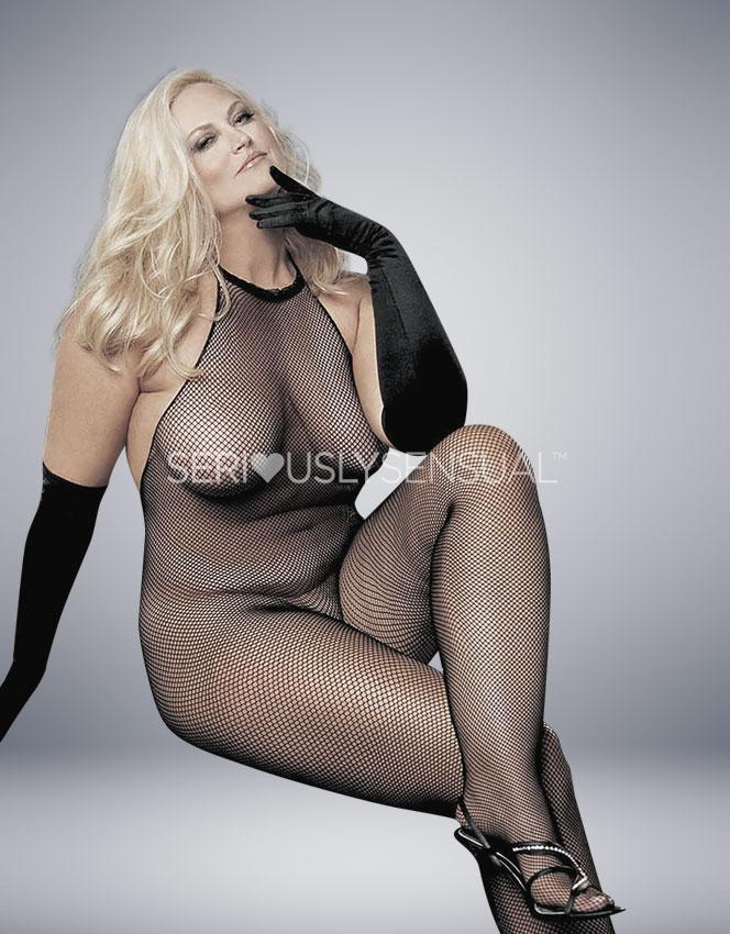 SoH-HS X90001 (Plus) Black Bodystocking - SeriouslySensual