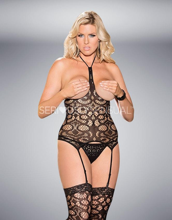 SoH-HS X90371 Fishnet Top Black - SeriouslySensual