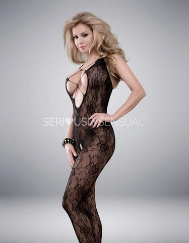 Yesx YX403 Bodystocking Black - Small-Medium - SeriouslySensual