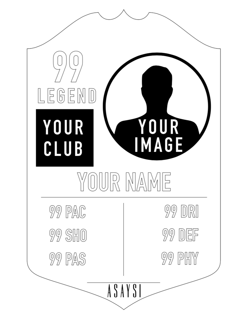Personalised Shiny Player Card