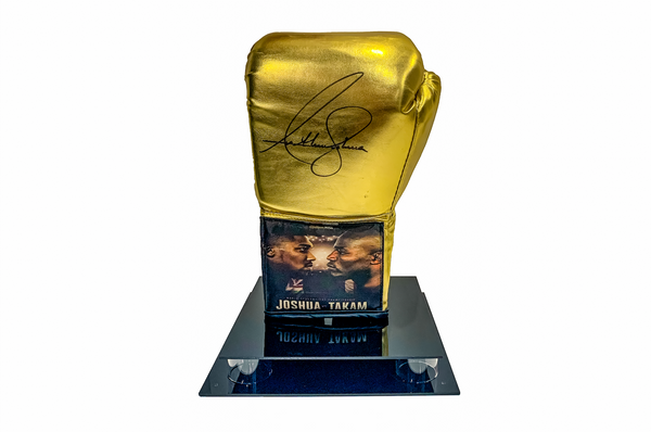 Anthony Joshua V Takam Rare Gold Edition Signed Glove