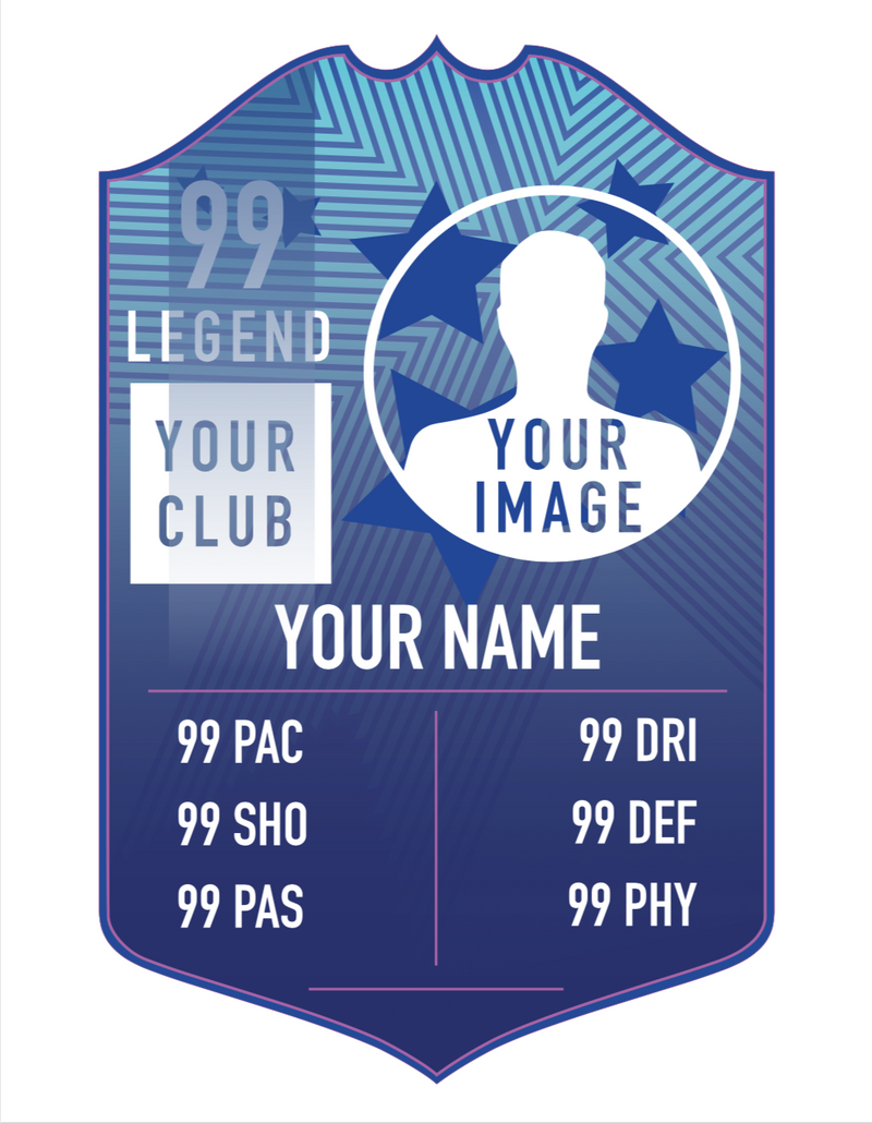 Blue Vinyl Personalised Player Card