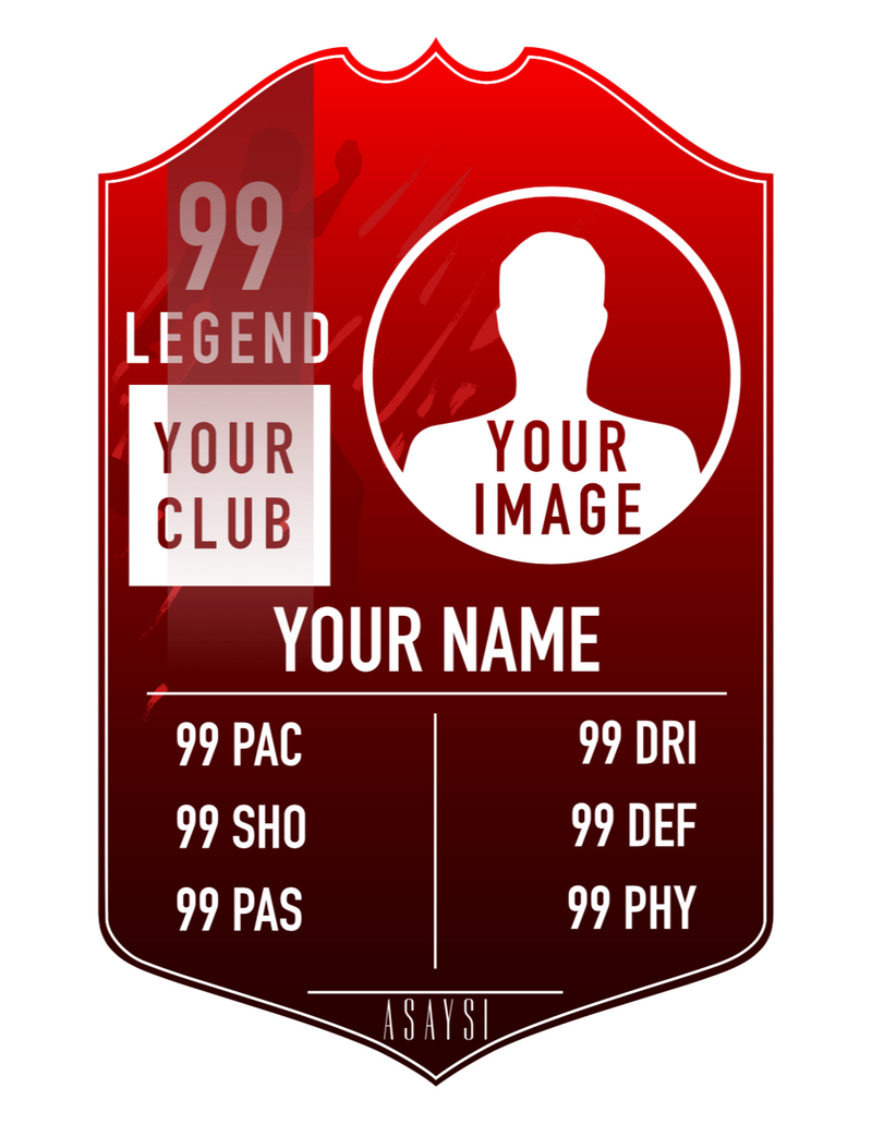Vinyl Personalised Player Card