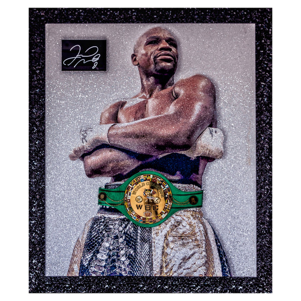 Floyd 'Money' Mayweather Signed Piece with Replica WBC Belt