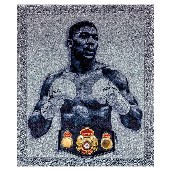 Anthony Joshua Signed Piece With Replica WBA Belt