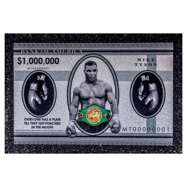 Mike Tyson ASAYSI Bank Note with Replica WBC Belt