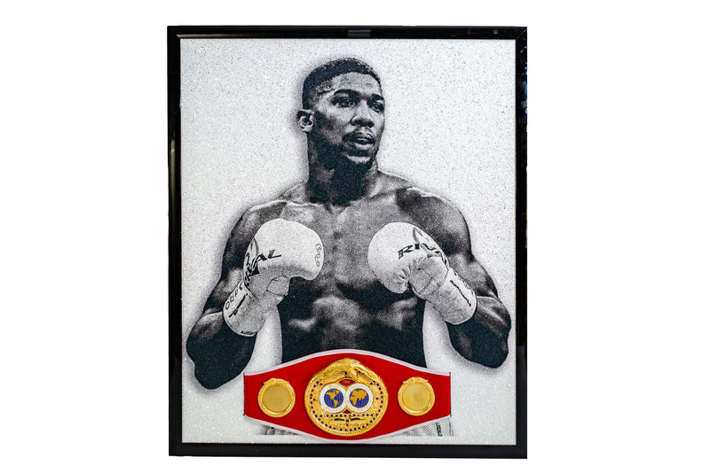 Anthony Joshua Signed Piece with Replica IBF Belt