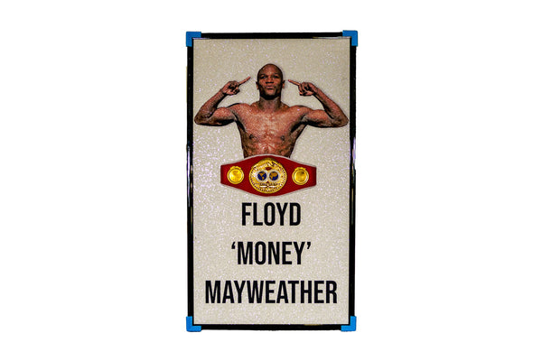 Floyd Mayweather Signed Portrait with 3D IBF Belt