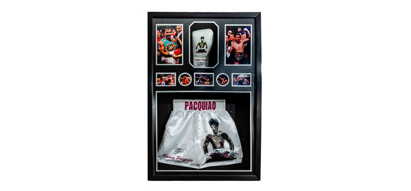 Manny Pacquiao Signed Shorts & Glove