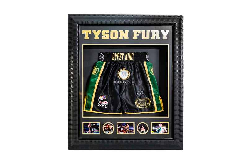 Tyson Fury Gypsy King Signed Shorts