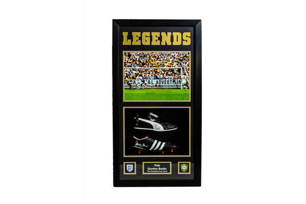 Pele & Gordon Banks Legends Dual Signed Boot