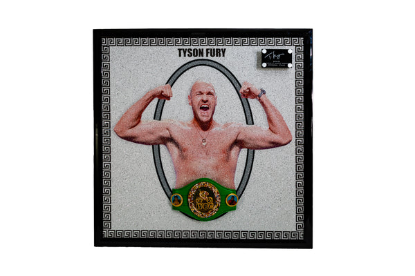 Tyson Fury Signed Portrait with WBC Belt