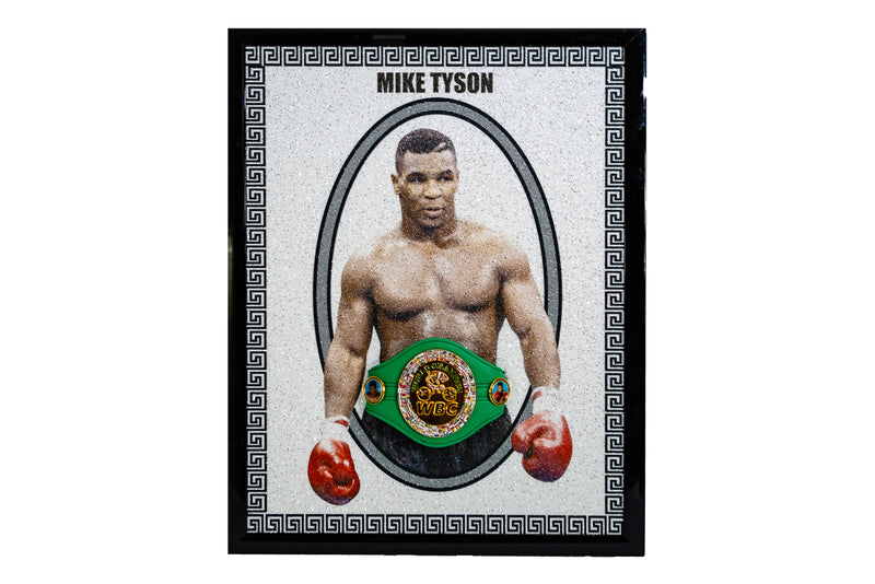 Mike Tyson Portrait with 3D WBC Belt