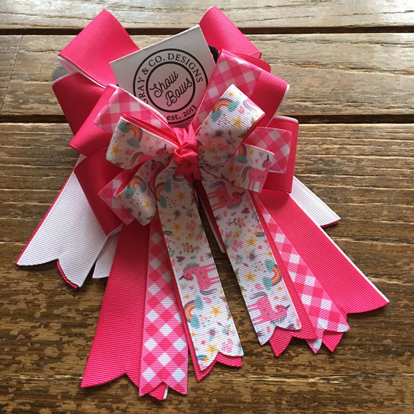 Pink Unicorn | Show Bows