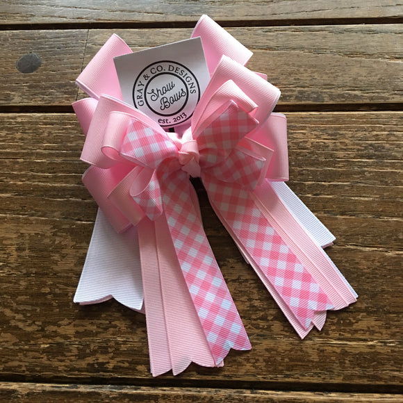 Pink Gingham | Show Bows