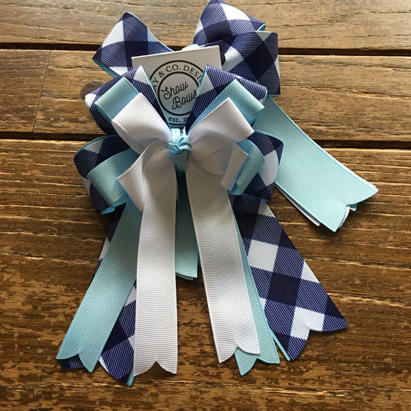 Navy Gingham | Show Bows