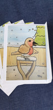 BWT Christmas Robin Greeting Card