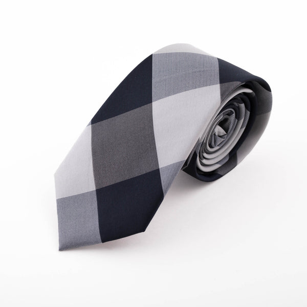 Grey and Black Alushta Tie