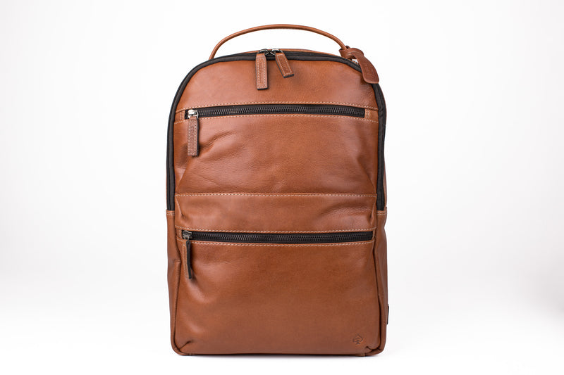 TAN LEATHER BACKPACK