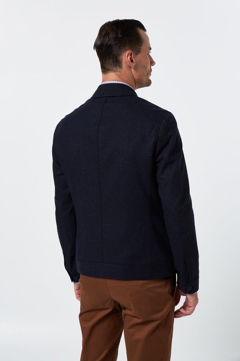 NAVY MELTON WOOL BOMBARD