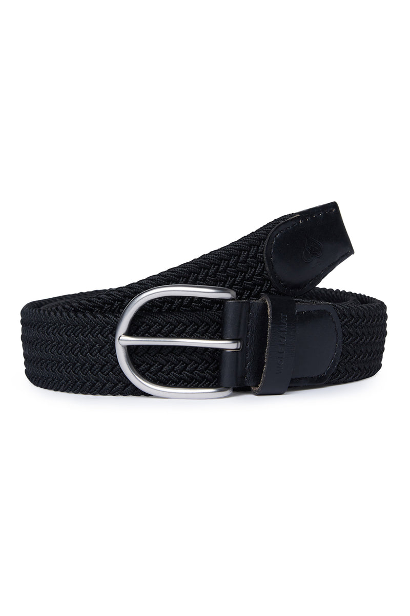 BLACK WOVEN STRETCH SALEM BELT