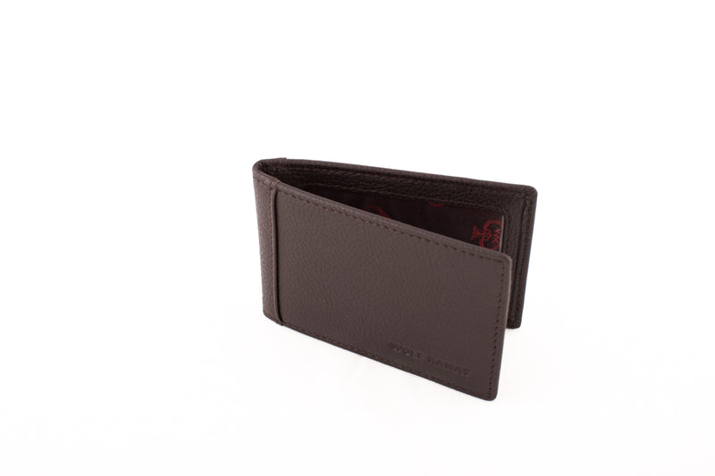 BROWN GRAIN LEATHER DJEMAA WALLET