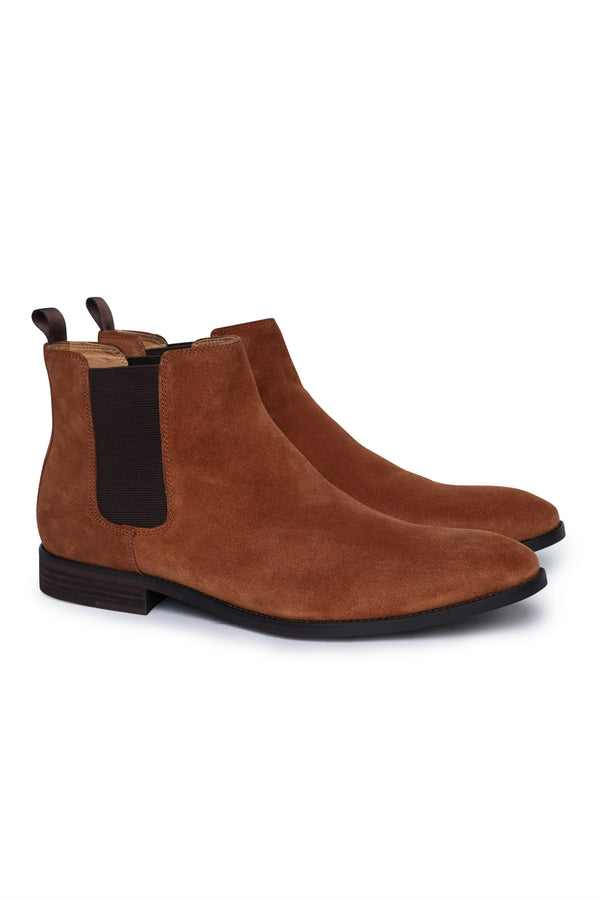 TAN SUEDE LEATHER CHELSEA BOOT