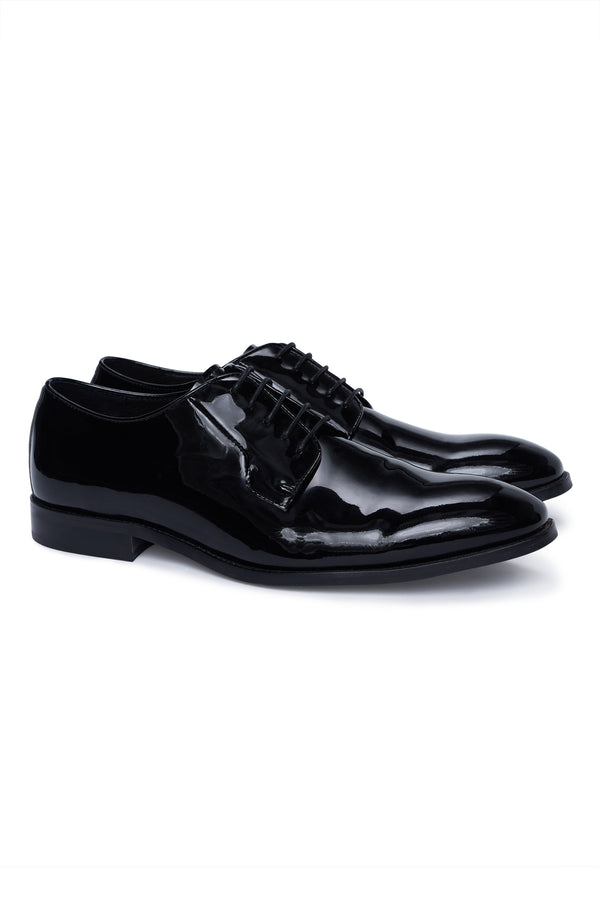 BLACK PATENT LEATHER DRESS SHOE