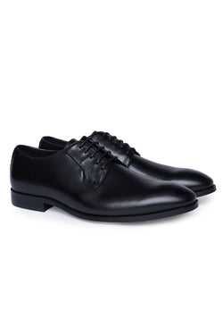 BLACK LEATHER DRESS SHOE