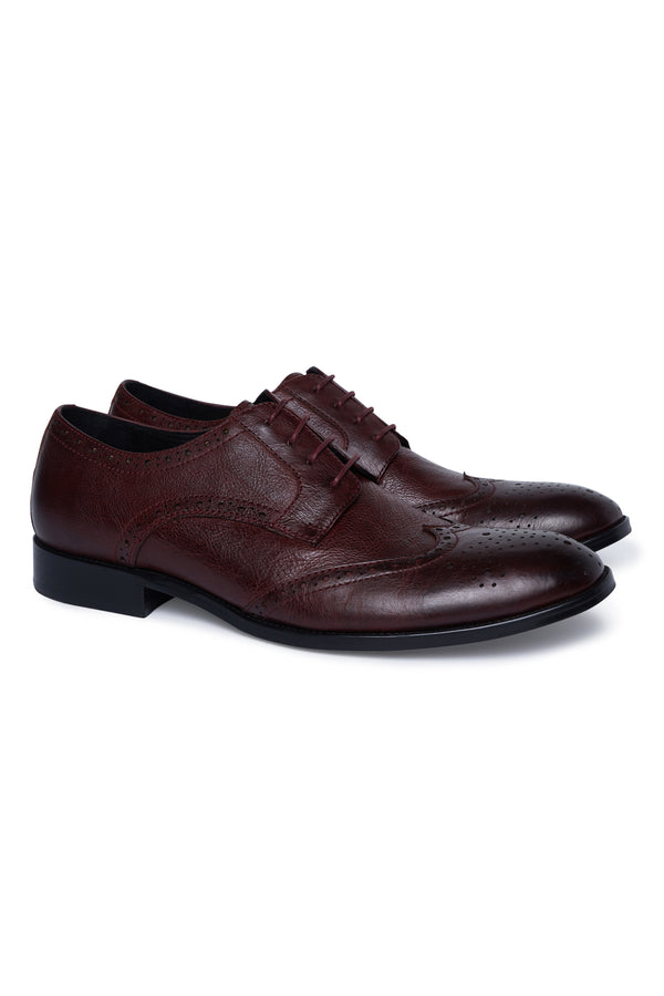 OXBLOOD LEATHER BROGUE SHOE